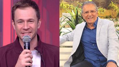 Tiago Leifert e Carlos Alberto de Nobrega