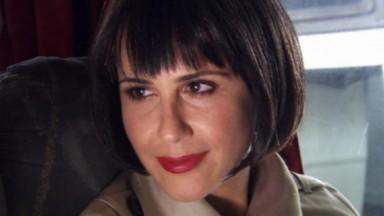 Guilhermina Guinle como Luísa em cena do último capítulo da novela Ti Ti Ti, em reprise no Vale a Pena Ver de Novo, na Globo