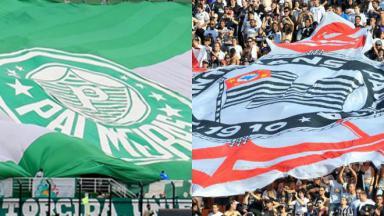 Torcidas de Palmeiras e Corinthians