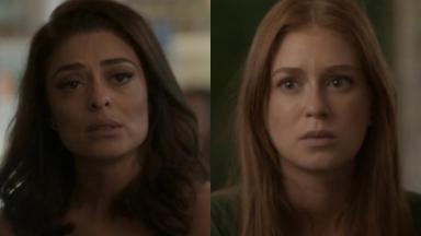 Juliana Paes e Marina Ruy Barbosa em cena da reta final da novela Totalmente Demais, em reprise na Globo