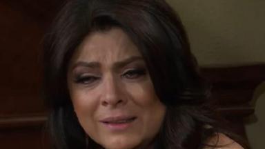 Cena de Triunfo do Amor com Vitória chorando