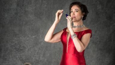 A atriz Lilia Cabral