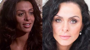 Vanessa Machado como a Simone de Laços de Família; Vanessa Machado posada para foto