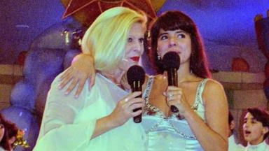 Vanusa e Mara Maravilha em programa de TV