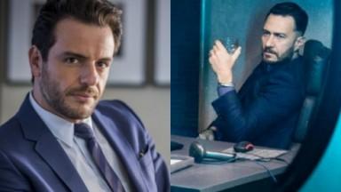 Rodrigo Lombardi e Gabriel Braga Nunes em cenas da primeira e da segunda temporada de Verdades Secretas
