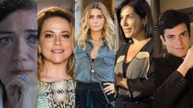 Lília Cabral, Vivianne Pasmanter, Giovanna Antonelli, Glória Pires e Mateus Solano em montagem