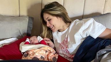 Virginia Fonseca e a filha Maria Alice