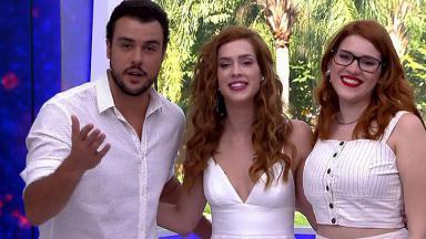 Joaquim Lopes, Sophia Abrahão e Ana Clara