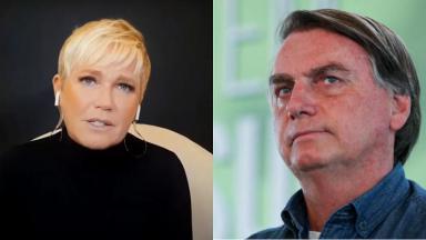 Xuxa (à esquerda) quer o impeachment de Bolsonaro (à direita)