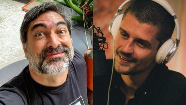 Zeca Camargo e Felipe Solari