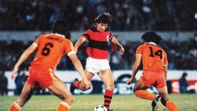 Zico pelo Flamengo em 1981
