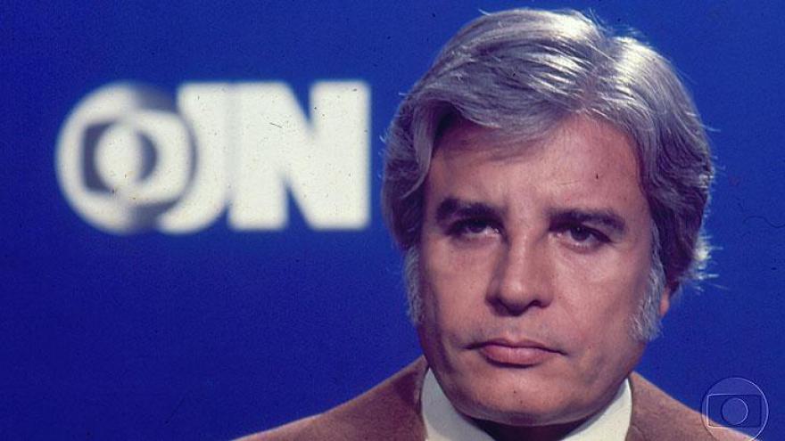 Cid Moreira no cenário de 1976