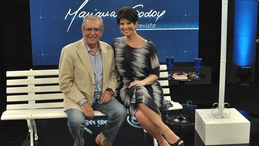 Mariana com Carlos Alberto - Programa comemora dois anos no ar como um dos melhores produtos RedeTV!
