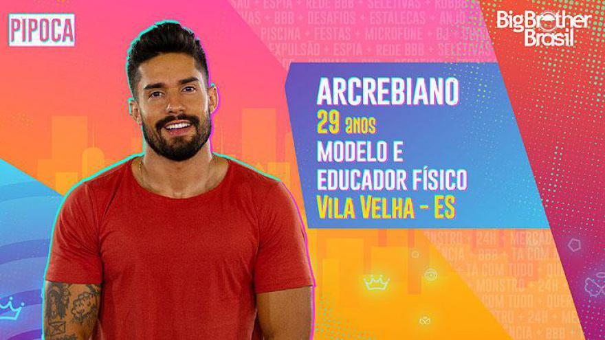 O modelo e educador físico Arcrebiano, de 29 anos, é capixaba, mas mora em Goiânia
