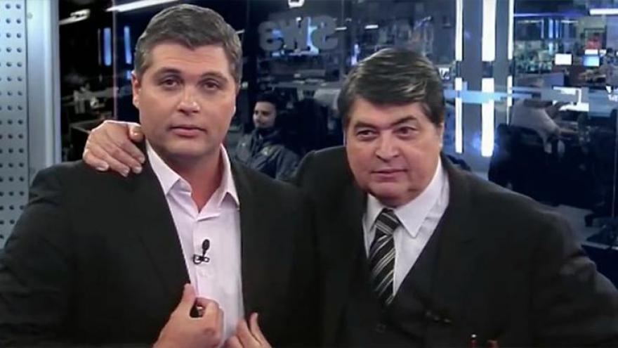 Datena com seu filho  Joel no Brasil Urgente