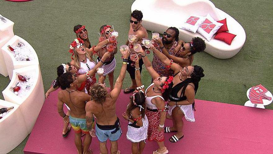 Brothers brindam durante Pool Party