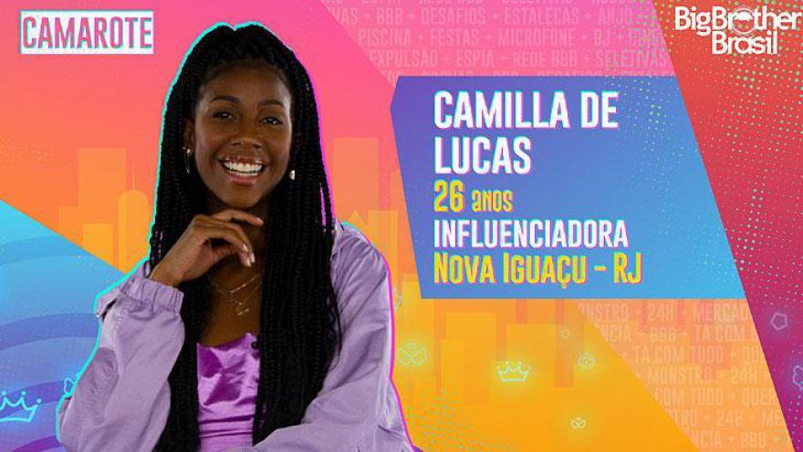 A influenciadora digital Camilla de Lucas tem 26 anos e nasceu em Nova Iguaçu