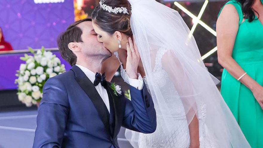 Casamento Pedro e Marcela no Palco do Teleton