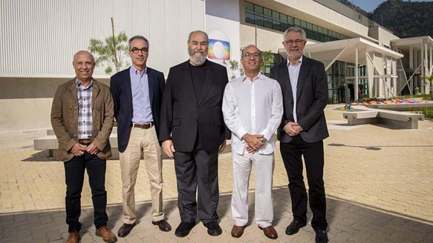Jorge Nobrega, João Roberto Marinho, Roberto Irineu Marinho, Jose Roberto Marinho e Carlos Henrique Schroder