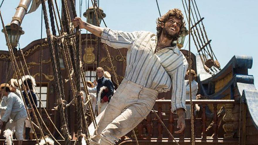 Joaquim como marujo nos primeiros capítulos