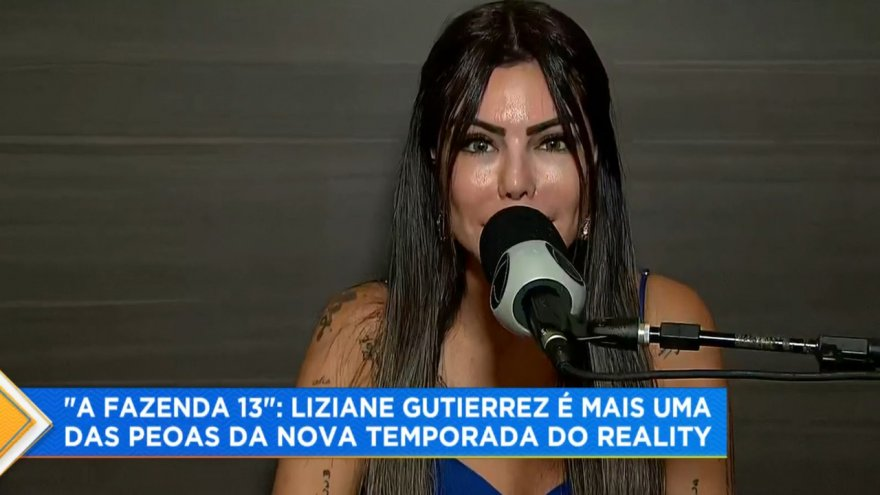Liziane Gutierrez foi outra revelada para A Fazenda 13