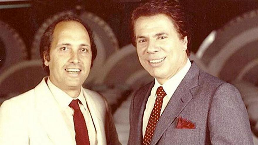 Luciano Callegari e Silvio Santos