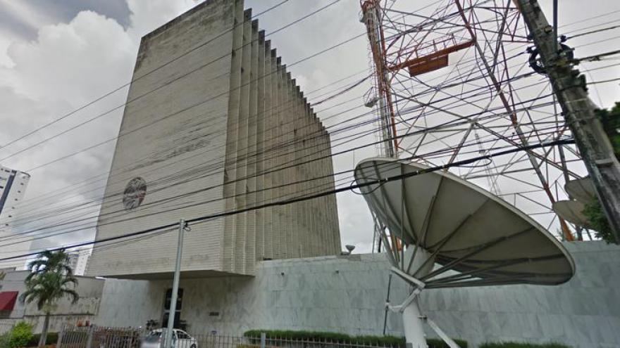 Fachada da TV Manchete em Fortaleza