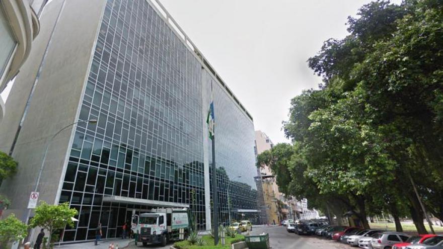 Fachada da TV Manchete no Rio de Janeiro