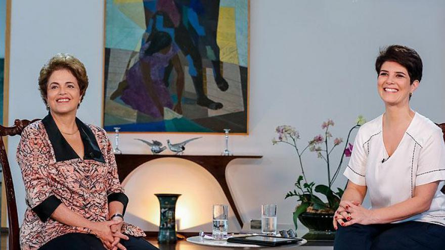 Mariana com Dilma Rousseff - Programa comemora dois anos no ar como um dos melhores produtos RedeTV!