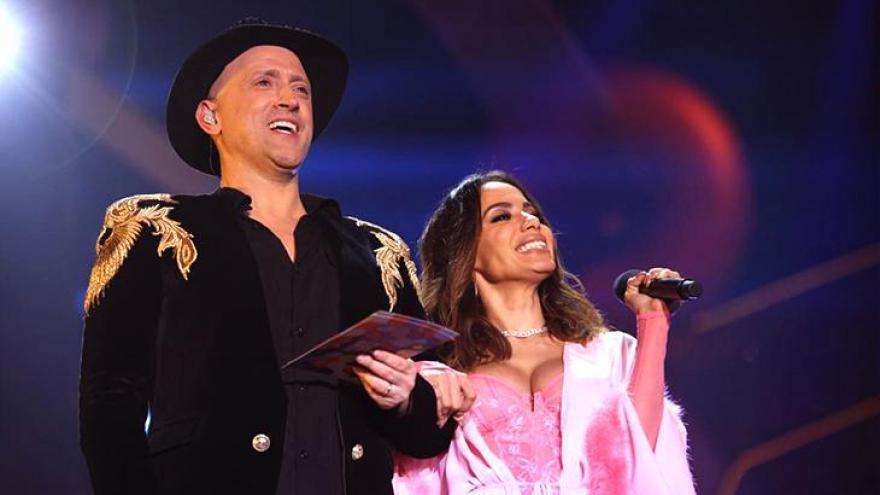 Paulo Gustavo e Anitta no Prêmio Multishow