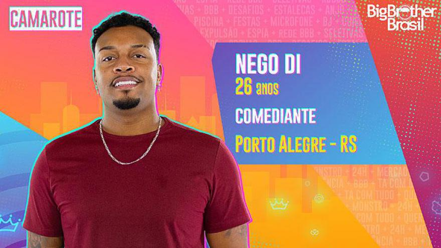 Nego Di, de 26 anos, é comediante.