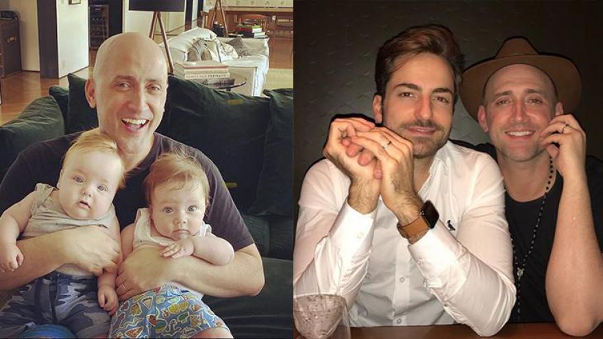 Paulo Gustavo, marido e filhos