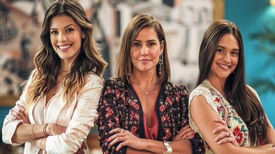 Kyra (Vitória Strada), Alexia (Deborah Secco) e Luna (Juliana Paiva) comandam Salve-se Quem Puder - Divulgação/Globo