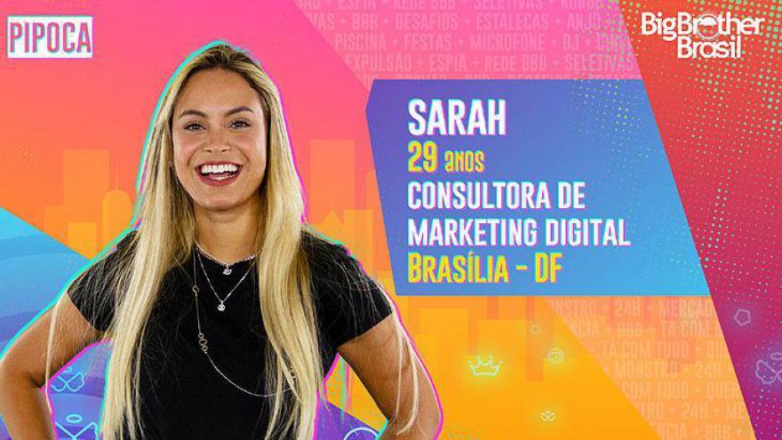 A consultora de Marketing Digital Sarah, de 29 anos, é natural da capital Brasília