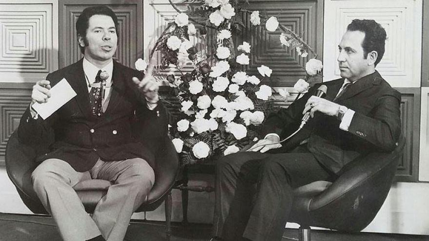 Silvio Santos ao lado de Ronald Golias