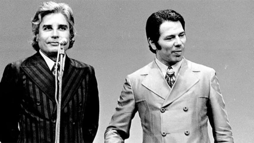 Cid Moreira e Silvio Santos