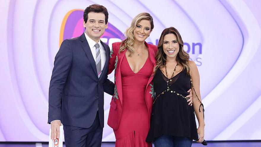 Celso Portiolli, Ticiane Pinheiro e Patrícia Abravanel