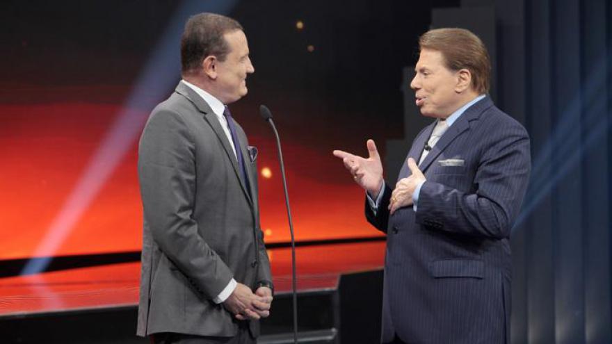 Silvio Santos questionou Cabrini sobre o perigo de suas reportagens