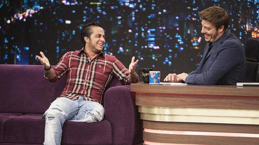 Thammy e Fábio Porchat - Atração é exibida de segunda a quinta-feira na Record TV, à 00h15.