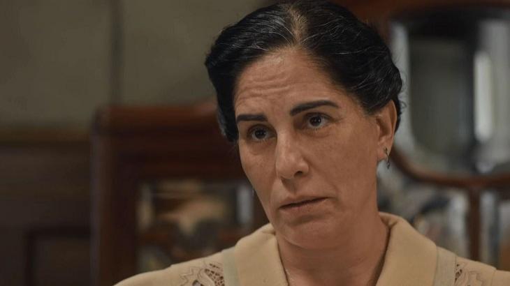 Lola expulsará Almeida para proteger Clotilde em Éramos Seis. Foto: Divulgação