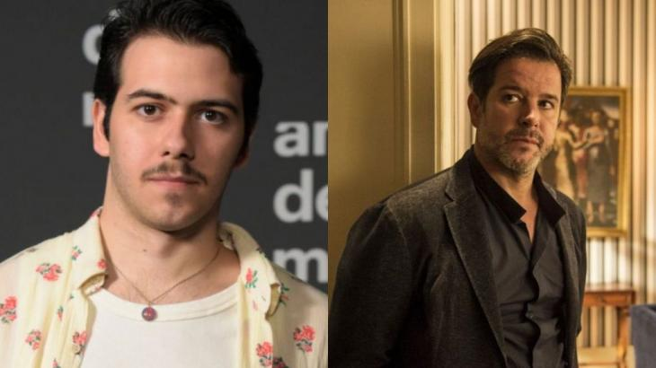 Antonio Benício estreia em novelas contracenando com o pai, Murilo Benício (Fotos: Globo/Reprodução)