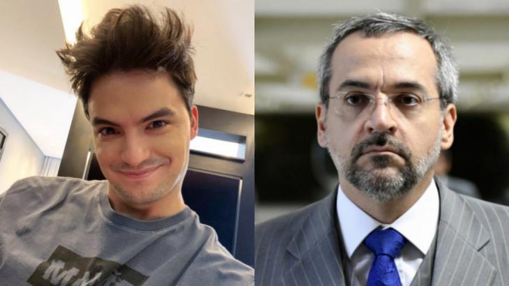 Processado por Weintraub, Felipe Neto exibe erro de português na defesa do Ministro da Educação