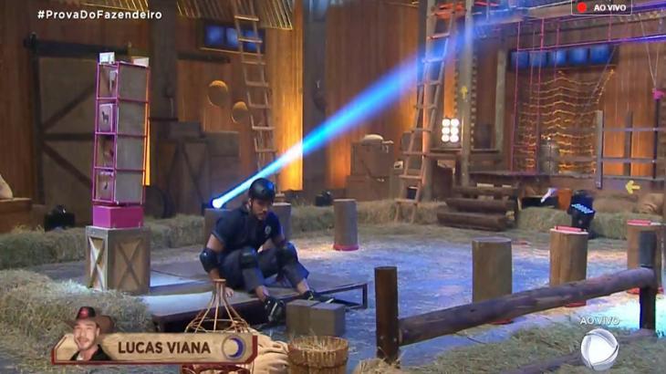 Lucas Viana é o novo Fazendeiro no reality show A Fazenda 2019 (Reprodução)