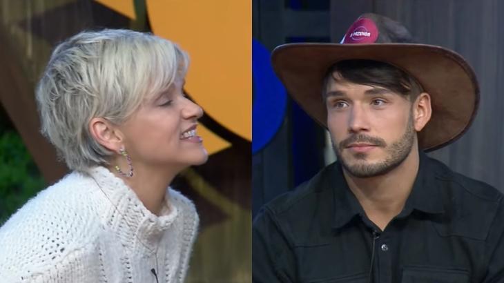 Andréa Nóbrega bate boca com Lucas Viana em A Fazenda 11 (Reprodução/Montagem)