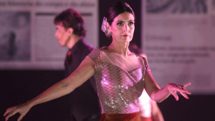 Fátima Bernardes durante performance - Foto: Reprodução
