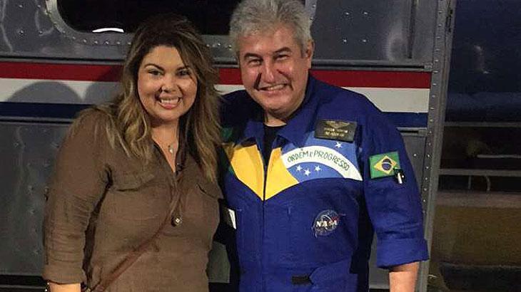 Fabiana Karla e Marcos Pontes na NASA
