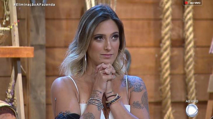 Tati Dias perdeu para Diego Grossi e foi eliminada do reality show A Fazenda 2019 (Reprodução)