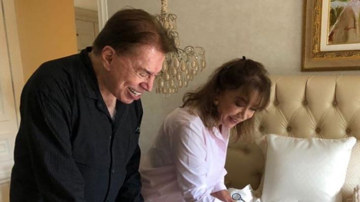 """Patrícia mostra Silvio Santos """"babando"""" os três netinhos: """"um é bom, três é bom demais"""""""