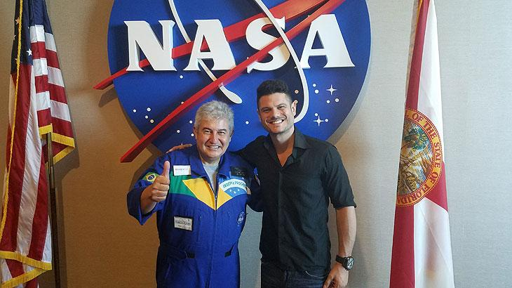 Marcos Pontes e Rodrigo César na NASA