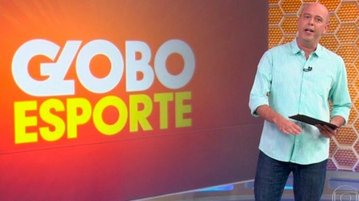 Alex Escobar aparece apresentando o Globo Esporte no Rio
